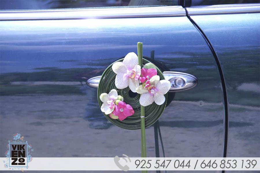 ejemplos decoracion de coche de boda