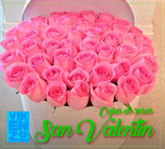 Cajas de rosas San Valentin