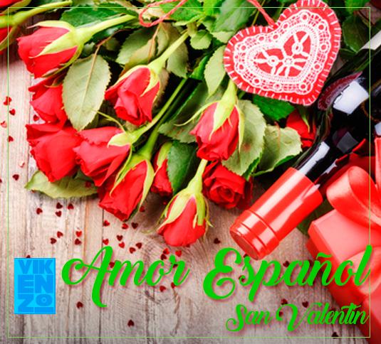 Ramo de rosas y Vino San Valentin