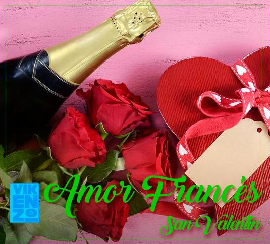 Ramos de rosas, botella de champan y bombones San Valentin