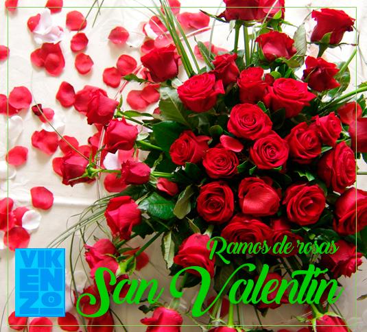Ramos de rosas San Valentin