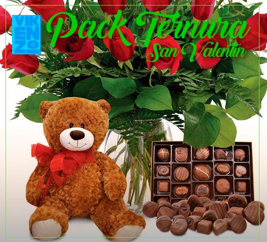 Rosas, osito y bombones San Valentin