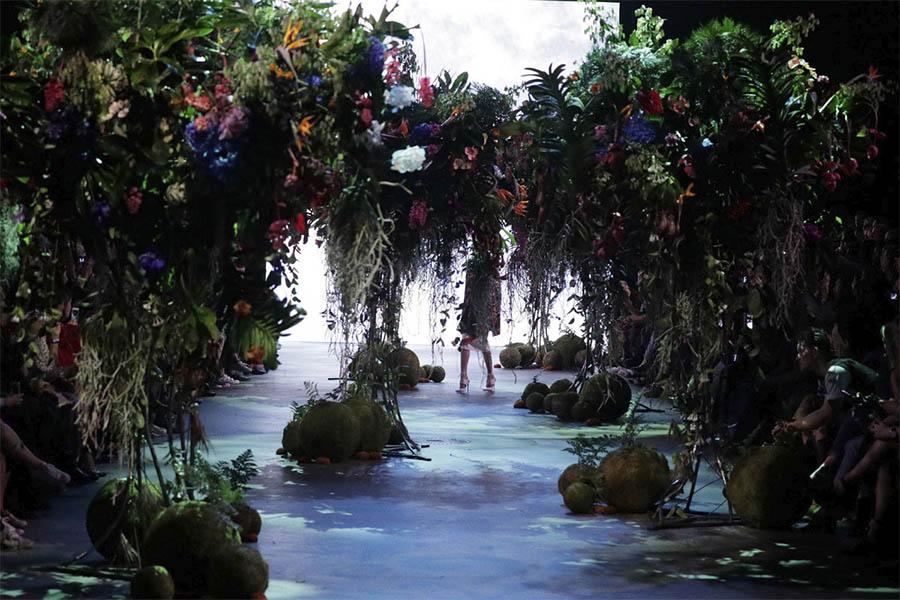 decoracion floral desfiles de moda